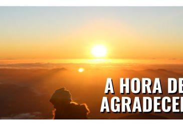 É HORA DE CELEBRAR E AGRADECER
